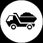 vit ikon för ballast